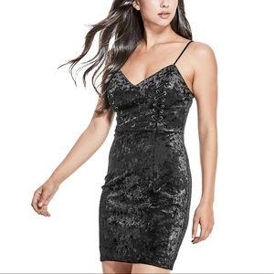 GUESS Black Velvet Mini Dress